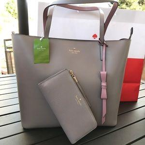 💦🏝kate spade tote set🏝shoulder bag & wallet